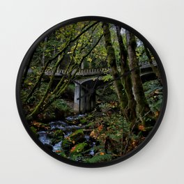 Chuckanut Drive Bridge Wall Clock