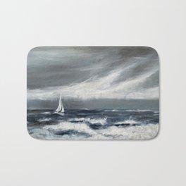 Sailing The Ocean Blues Bath Mat