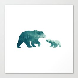 Bears Forest Canvas Print