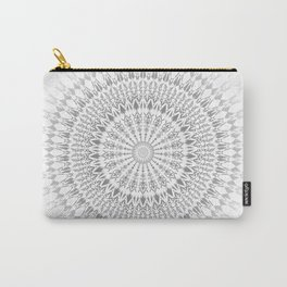 Gray White Mandala Carry-All Pouch