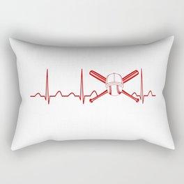 BASEBALL HEARTBEAT Rectangular Pillow