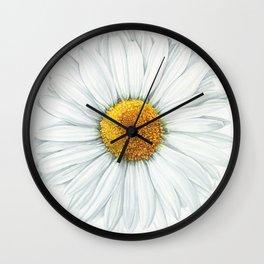 Watercolor Daisy Wall Clock