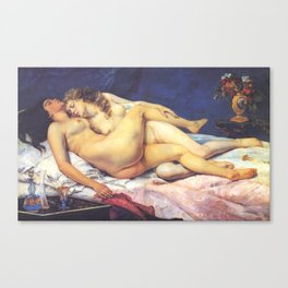 The Sleepers - Gustave Courbet Canvas Print