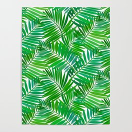 green leafs cool modern home trends Poster