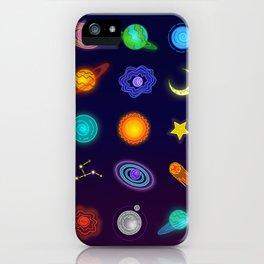 Cartoonish planets iPhone Case