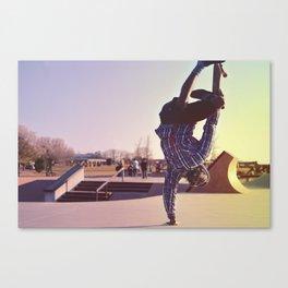 Skateboard Handstand Canvas Print