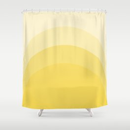 Four Shades of Yellow Curved Shower Curtain