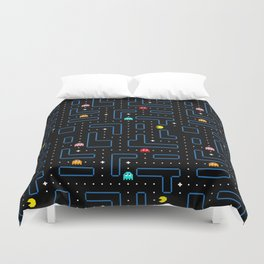 Pac-Man Retro Arcade Gaming Design Duvet Cover