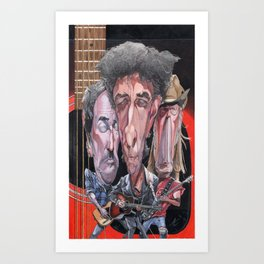 Dylan, Springsteen, and Young Art Print