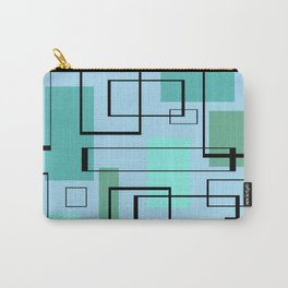 Mid Century Modern Rectangles Carry-All Pouch