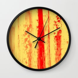 Gerhard Richter Inspired Abstract Urban Rain 3 Wall Clock