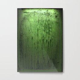 Old green window at night Metal Print
