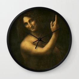 Leonardo da Vinci - Saint John the Baptist Wall Clock