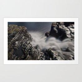 Waterfall Looking Down Art Print