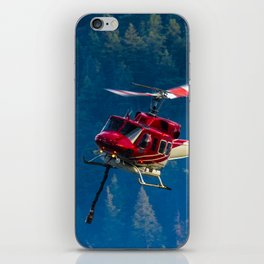 Helicopter fighting fires iPhone Skin