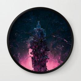 The Technocore / 3D render of futuristic structure Wall Clock