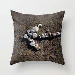 Stone arrow Throw Pillow