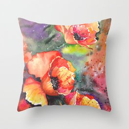 Poppies Flowers Throw Pillow
