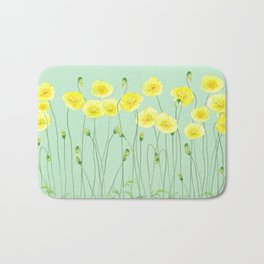 Yellow Wildflowers II Bath Mat