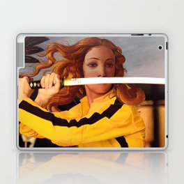 Botticelli's Venus & Beatrix Kiddo from Kill Bill Laptop & iPad Skin