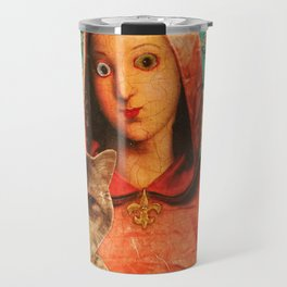 Madonna With Cat Travel Mug