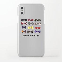 Blaine's Bowties Clear iPhone Case