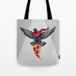 Pigeon with Pizza Tote Bag