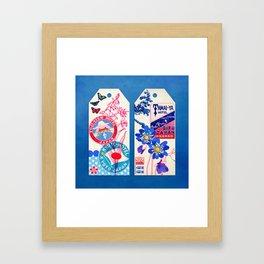 Label Fables, Japan II :: Fine Art Collage Framed Art Print