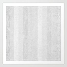 Gray Stripe Pattern Art Print