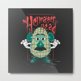 Mr. Hellraiser Head Metal Print
