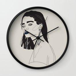 Rihanna blue Wall Clock
