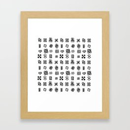 Adinkra Symbols Of West Africa Framed Art Print