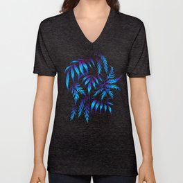 Brooklyn Forest - Blue Unisex V-Neck
