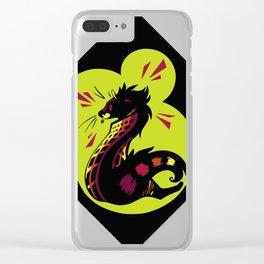 African Civet (Civettictis civetta) Watermelon/Lime Palette Clear iPhone Case