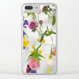 Spring Flowers - JUSTART (c) Clear iPhone Case