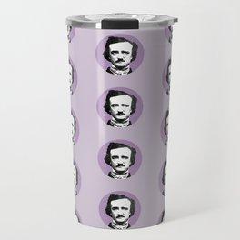 Edgar Allan Poe-ka Dots Travel Mug