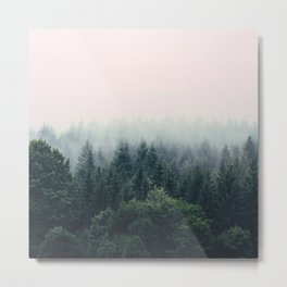 Between every two pines is a doorway to a new world Metal Print