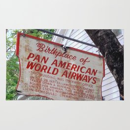 Historic Airlines Sign Rug