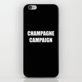 Champagne Campaign Mmm Bubbles iPhone Skin