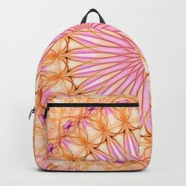 Mandala in pink, yellow and orange tones Backpack