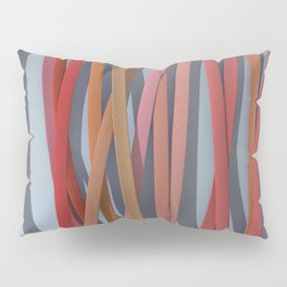 ribbon paper background red Pillow Sham