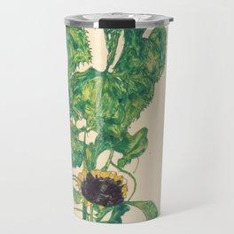 "Egon Schiele ""Sonnenblumen"" Travel Mug"
