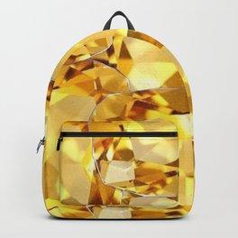 CHAMPAGNE TOPAZ GEM SEPTEMBER BIRTHSTONE ART Backpack