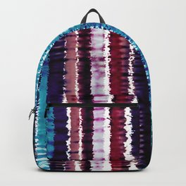 Bohemian Style Tie dye Stripes Design Backpack