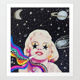 Trippy Marilyn Art Print