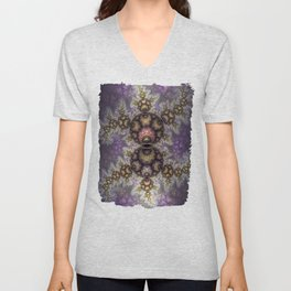 Magic in the air, fractal pattern abstract Unisex V-Neck