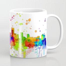 Anchorage, Alaska Skyline - Line & Ink 3 Coffee Mug