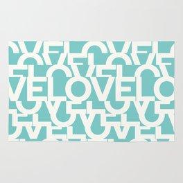 Hidden blue LOVE message Rug