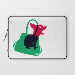 Angry animals: chihuahua - little green bag Laptop Sleeve
