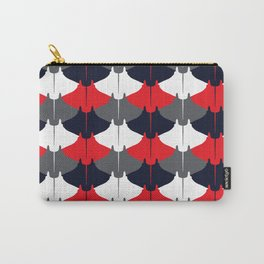 Manta Ray Pattern (Blue and Red) Carry-All Pouch